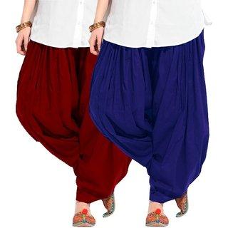 Combo - Maroon n Blue Full Patiala Salwar