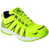 Abz Mens Green Lace-Up Running Shoes