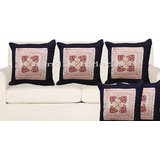 Handloomdaddy Patch Design Cushion Cover(set Of 5 Pcs)cvr140