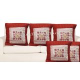 Handloomdaddy Patch Design Cushion Cover(set Of 5 Pcs)cvr142