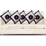 Handloomdaddy Patch Design Cushion Cover(set Of 5 Pcs)cvr152