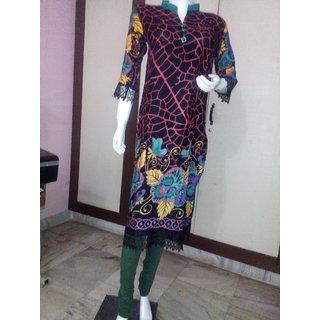 Pakistani cotton straight fit long Kurtis for women