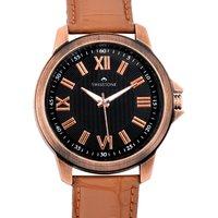 Swisstone Brown Leather Strap Analog Watch For Men/Boys-ST-GR003-BLK-BRW