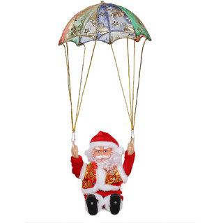 Trimurti Musical Animated Parachute Santa Soft Toy