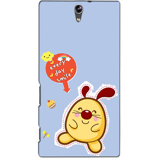 Instyler Premium Digital Printed 3D Back Cover For Sony C5 Dual 3DSONYC5DDS-10085