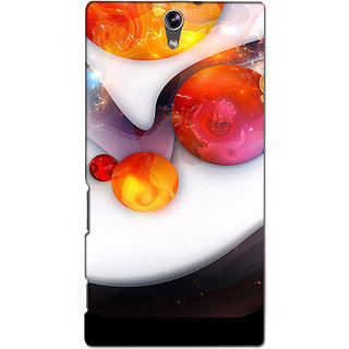 Instyler Premium Digital Printed 3D Back Cover For Sony C5 Dual 3DSONYC5DDS-10096