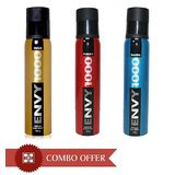 ENVY DEO PACK OF 3 FOR MEN WITH NO GAS 1000 SPRAY