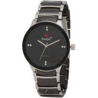 Evelyn Black Dial Black Bracelet Analogue Mens Wrist Watch - EVE-320