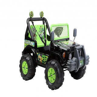 BWILD Hurricane Wide Seater Green  Black Jeep