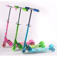 Kids Foldable 3 Wheel Kids Scooter Cycle Scooter Height Adjustable Hand Brake