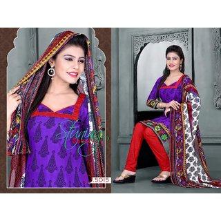 New American Crape Dress Material Designer Prints Unstitched Salwar Kameez (D1)