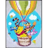 Pooh With Friends In Hot Air Balloon Cross Stitch Pattern