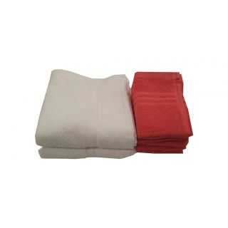 Valtellina Combo-8 Soft Touch  Hand Towel-White  Face Towel(MTCOFT,HT-12)