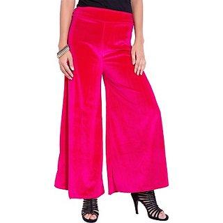 Sukuma Velvet Plazo In Shinning Pink Shade