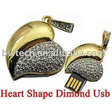 Microware USB 2.0 4GB Heart Shape Pen Drive
