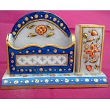 Chitrahandicraft Marble Pen Stand With Card Holder