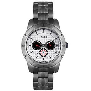 Timex E Class Ti000I60400 Silver/White Analog Watch