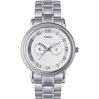Timex E-Class Analog White Dial Men's Watch - TI000J20500