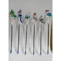 Glass Crystal Pens - Set Of 6 Pens