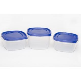 Cutting EDGE Snap Tight Transparent Air Tight Storage Containers Lite Combo set of 3 Blue