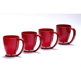 Cutting EDGE Floating Cups blue with inbuilt coaster set of 4 Red