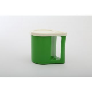 Cutting EDGE Bliss Coffee Mugs With Cover Cum Coaster Set Of 2 Parrot Green