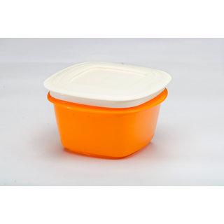 Microwaveable Veggie Fresh 1500 ml Containers Set Of 6 Orange