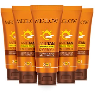 MEGLOW ANTI- TAN PACK (PACK OF 5 TUBES OF 70 GRAMS EACH)