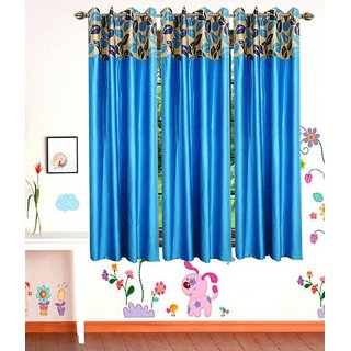 Shiv Shankar Handloom Window Curtain Set Of 3(5X4 Feet)