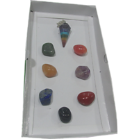 Seven Chakra Healing Stone With Seven Chakra Pendulum -  Aura  Chakra Healing, Crystal Healing,Reiki
