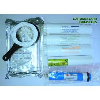 RO Complete SERVICE KIT with DOW FILMTECH 75 GPD Membrane For Water Purifiers