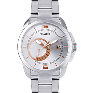 Timex Fashion Ti000N90000 Silver/White Analog Watch