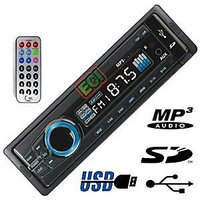 Crown 4In1 Car Deck Stereo Mp3 Player Usb Fm Sd Mmc Aux Inputs Remote
