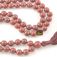 CROWN Original Red Jasper Gemstone 108 Dana Jaap Prayer Mala, Stone Jap Beads