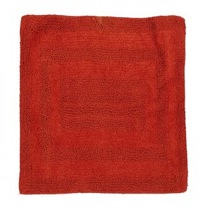 Outdazzle Cotton Door  Bath Mat -  RED