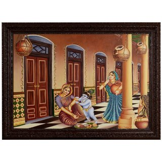 Yashoda with Gopal Painting for Home