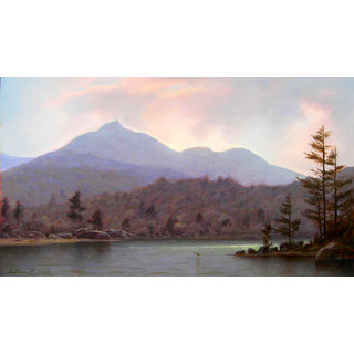 Bob Ross Mountain Oil Painting Size 10/12 Inch