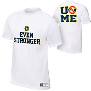 John Cena Tshirt T Shirt WWE EVEN STRONGER Made In India
