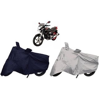 Stylobby Navy Blue And Silver Bike Cover Hero Extrem Pack Of 2