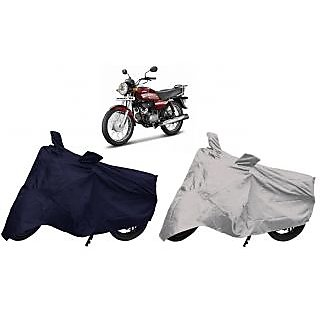 Stylobby Navy Blue And Silver Bike Cover Hero HF Down Pack Of 2