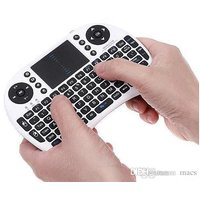 PORTABLE MINI I8 WIRELESS BLUETOOTH 2.4G KEYBOARD WITH TOUCHPAD FOR PC