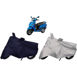 Stylobby Navy Blue And Silver Bike Cover Hero Pleaser Pack Of 2