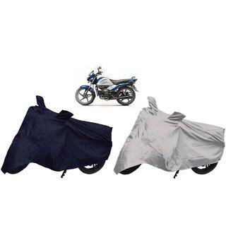 Stylobby Navy Blue And Silver Bike Cover Hero Splendor Ismart Pack Of 2
