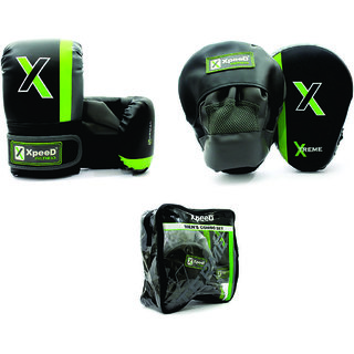 Xpeed Combo Punching /Focus Pads With Punching Gloves