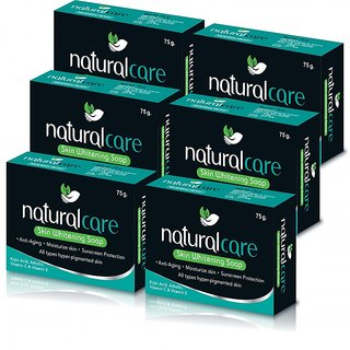 Naturalcare Skin Whitening Soap 75gm (Pack of 6)
