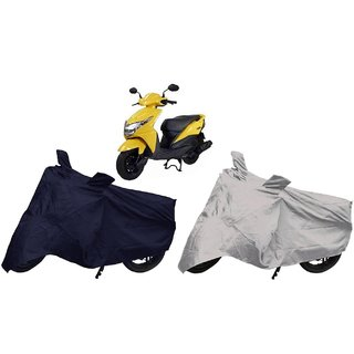 Stylobby Navy Blue And Silver Bike Cover Honda Dio Pack Of 2