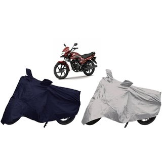Stylobby Navy Blue And Silver Bike Cover Honda Dream Pack Of 2