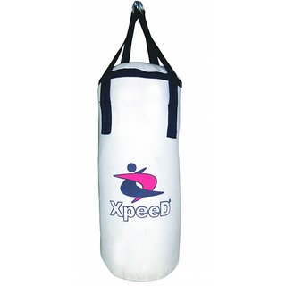 Xpeed Boxing / Punching Bag in White Canvas Unfilled (3 Feet)