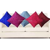 Handloomdaddy Multi Color Rose Design Cushion Cover(5 Pcs Set)13