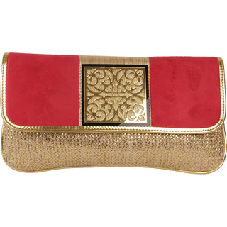 Lizzies  casual Hand-Held Red Clutch